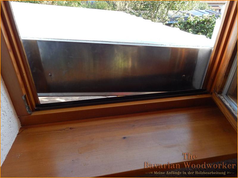 Vordach f r unsere terrasse for Fenster zumauern